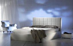 Camera da letto moderna lussuosa Fotografia Stock