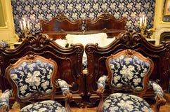 Camera da letto nel palazzo imperiale di Vienna Fotografia Stock