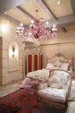 Camera da letto nello stile dell'annata Fotografia Stock