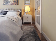 Camera da letto nello stile di neoclassicismo Illustrazione Vettoriale