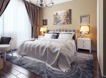 Camera da letto nello stile di neoclassicismo Illustrazione di Stock