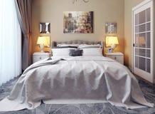 Camera da letto nello stile di neoclassicismo Royalty Illustrazione gratis