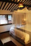 Camera da letto orientale di stile Fotografia Stock
