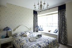 Camera da letto pastorale di stile Fotografia Stock Libera da Diritti