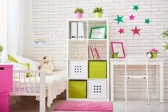 Camera da letto per la ragazza del bambino Fotografia Stock Libera da Diritti