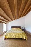 Camera da letto piacevole fotografia stock