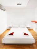 Camera da letto piana moderna dello studio o della camera di albergo fotografia stock