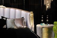 Camera da letto profonda di stile di colore Immagine Stock