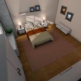 Camera da letto qui sopra royalty illustrazione gratis