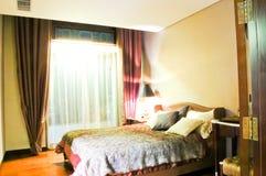 Camera da letto, stile cinese Immagini Stock