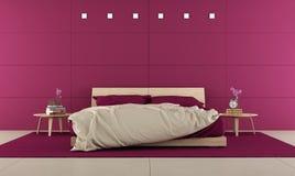 Camera da letto viola illustrazione vettoriale