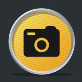 Camera dark badge Royalty Free Stock Photo