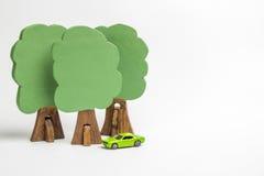 Camera dei blocchi di legno, figure di legno degli alberi, euro soldi, MOD fotografia stock