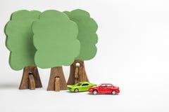 Camera dei blocchi di legno, figure di legno degli alberi, euro soldi, MOD fotografia stock libera da diritti