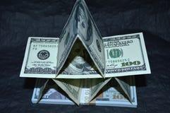 Camera dei dollari su un fondo nero Fotografia Stock Libera da Diritti