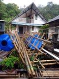 Camera del Borneo, Longhouse Immagine Stock
