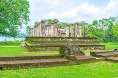 Camera del Consiglio del ` s di re in Polonnaruwa Fotografia Stock Libera da Diritti