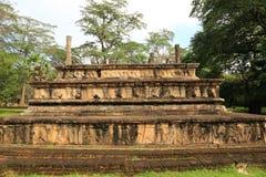 Camera del Consiglio, Polonnaruwa nello Sri Lanka Immagine Stock