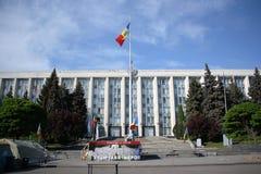 Camera del governo a Chisinau, Moldavia Fotografia Stock Libera da Diritti