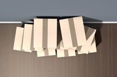 Camera del mucchio della scatola di cartone Immagine Stock