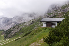 Camera del servizio di salvataggio della montagna nelle alpi bavaresi Fotografia Stock