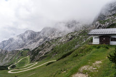 Camera del servizio di salvataggio della montagna nelle alpi bavaresi Immagini Stock Libere da Diritti
