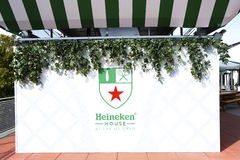 Camera della birra di Heineken a Billie Jean King Tennis Center durante l'US Open 2013 Fotografia Stock Libera da Diritti