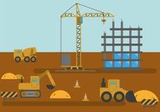Camera della costruzione del cantiere Fotografia Stock