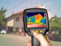 Camera della registrazione con la macchina fotografica termica infrarossa Fotografie Stock Libere da Diritti
