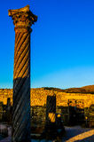 Camera delle colonne, Volubilis Fotografie Stock