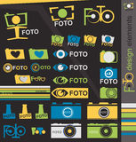Camera design elements Royalty Free Stock Photo