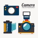 Camera design. Over white background, vector illustration Stock Images