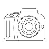 Camera detective. Camera, for shooting the scene, and to commit murder.Detective single icon in outline style vector Royalty Free Stock Image