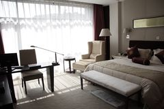 camera di albergo della camera da letto Fotografie Stock Libere da Diritti