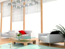 Camera di albergo moderna Immagine Stock Libera da Diritti
