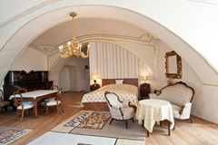 Camera di albergo nello stile dell'annata Fotografia Stock