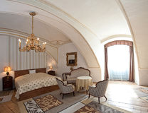 Camera di albergo nello stile dell'annata Immagini Stock Libere da Diritti