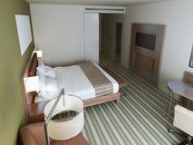 Camera di albergo nello stile minimalista Fotografia Stock Libera da Diritti