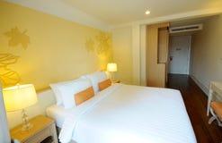 Camera di albergo o camera da letto Fotografia Stock Libera da Diritti