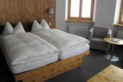 Camera di albergo, in Zermatt Svizzera, alpi svizzere Immagini Stock