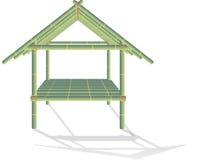 Camera di bambù Fotografia Stock