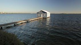 Camera di barca blu video d archivio