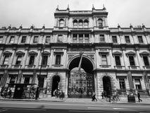 Camera di Burlington a Londra in bianco e nero Fotografie Stock Libere da Diritti