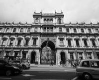 Camera di Burlington a Londra in bianco e nero Immagine Stock Libera da Diritti