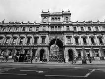 Camera di Burlington a Londra in bianco e nero Fotografie Stock