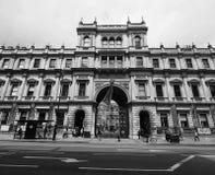 Camera di Burlington a Londra in bianco e nero Fotografia Stock Libera da Diritti