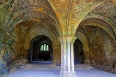 Camera di capitolo di un'abbazia medioevale Immagini Stock
