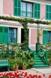 Camera di Claude Monet in Giverny Immagine Stock Libera da Diritti