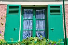 Camera di Claude Monet in Giverny Fotografia Stock