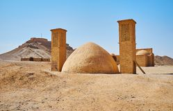 Camera di ghiaccio antica nel luogo di sepoltura dello zoroastriano, Yazd, Iran Fotografie Stock Libere da Diritti